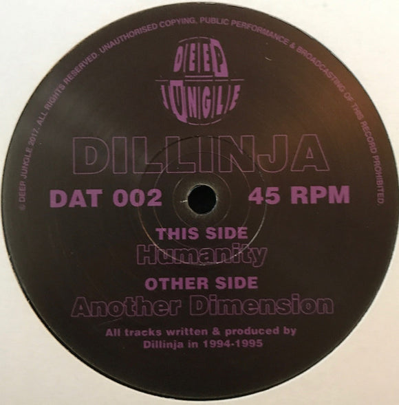 Dillinja ‎– Another Dimension (ONE PER PERSON)