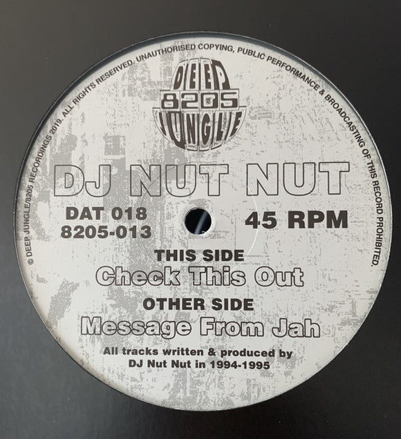 DJ Nut Nut ‎– Message from Jah