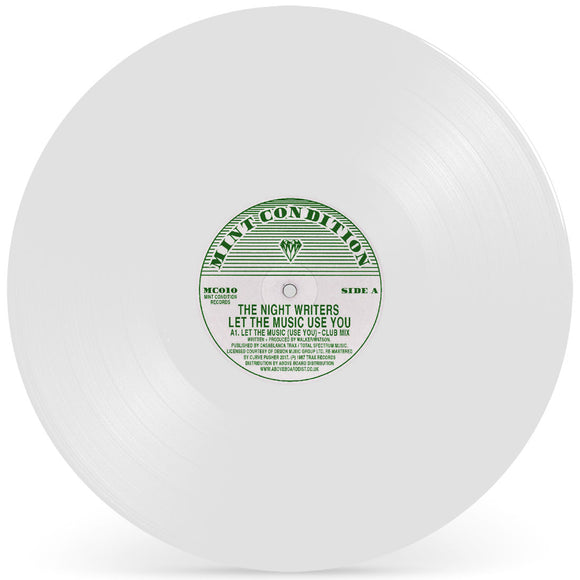 THE NIGHT WRITERS - LET THE MUSIC (USE YOU) (White Vinyl Repress)