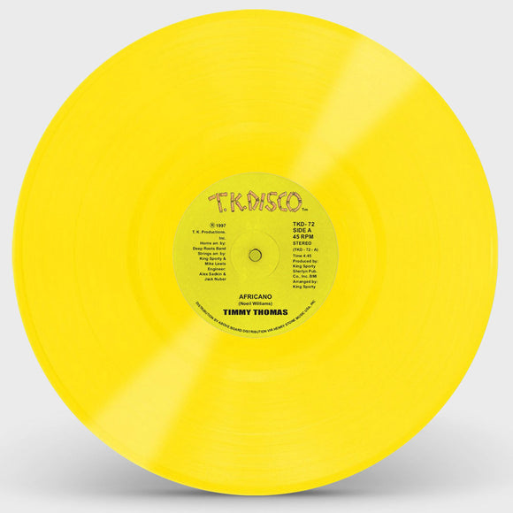 Timmy Thomas - Africano (Yellow Vinyl Repress)