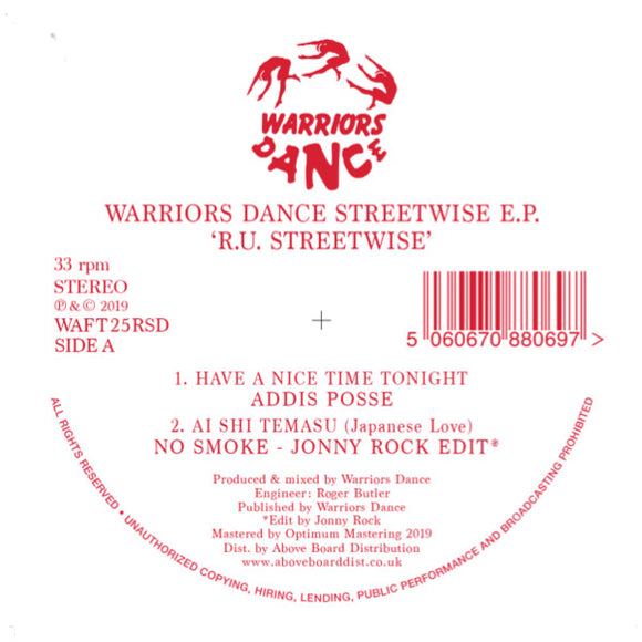 Warriors Dance RU Streetwise EP Inc. Jonny Rock Edit (Record Store Day 2019)