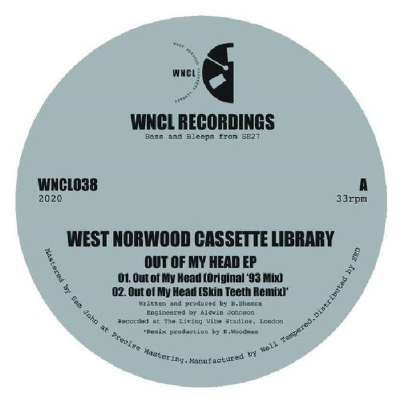 West Norwood Cassette Library - Out of My Head EP