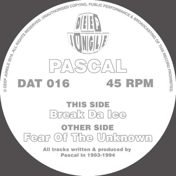 Pascal ‎– Fear Of The Unknown