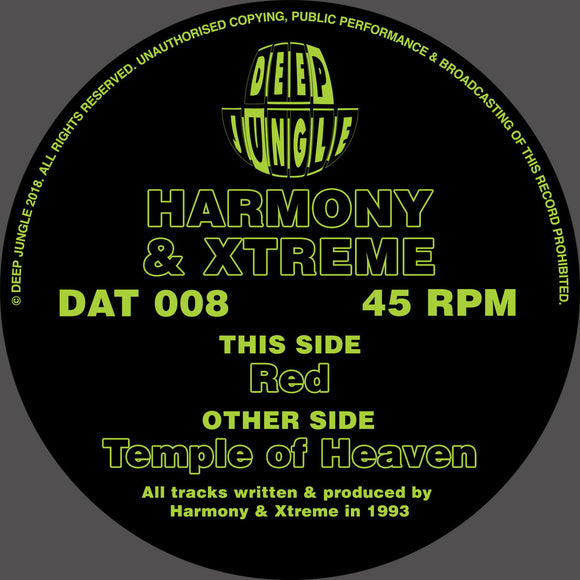 Harmony & Xtreme ‎– Temple Of Heaven (ONE PER PERSON)