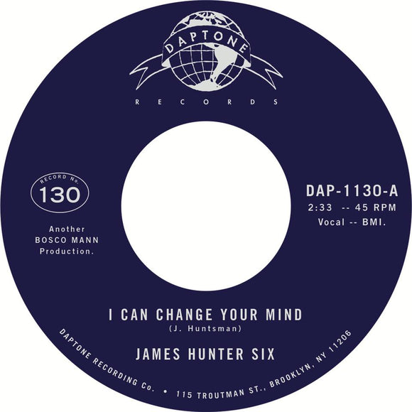 The JAMES HUNTER SIX - I Can Change Your Mind