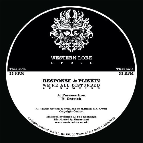 Response & Pliskin - We're All Disturbed [LP Sampler]