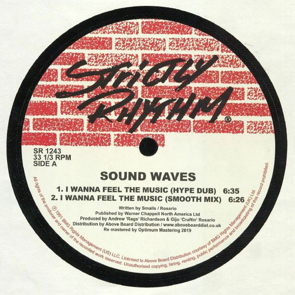 SOUND WAVES - I Wanna Feel The Music (reissue)