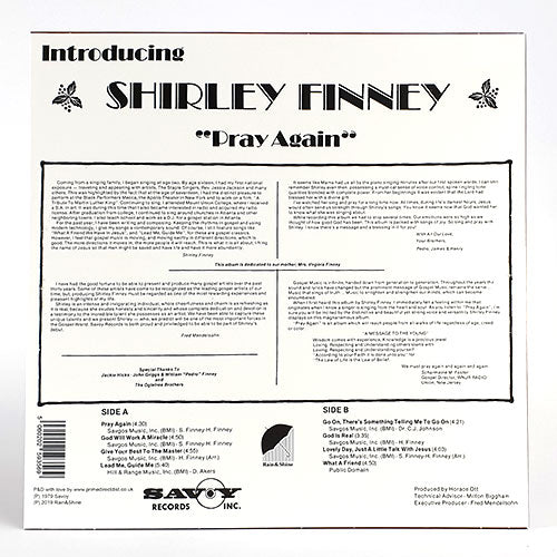 Shirley Finney - Pray Again  (RAIN&SHINE vinyl)
