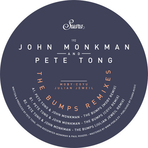 Pete Tong & John Monkman - The Bumps Remixes
