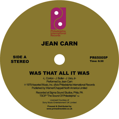 Jean CARN - Was That All It Was (reissue)