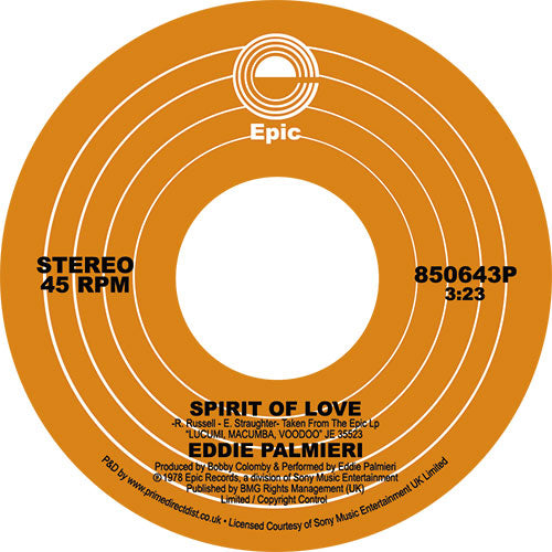 Eddie PALMIERI - Spirit Of Love