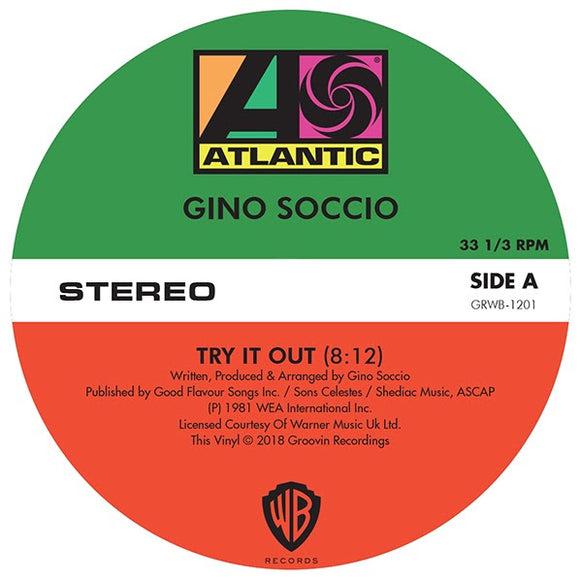Gino Soccio - Try It Out / Dancer / It's Alright (repress)