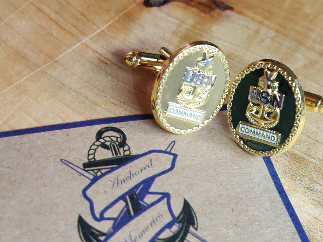 Command Senior Chief Cufflinks