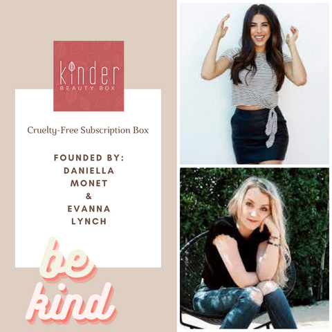 daniella monet and evanna lynch for The Kinder Beauty Box. Arianna Grande's favorite clean beauty brand. All natural vegan and cruelty-free bath bombs and bar soaps. Best bath bombs. clean and non toxic