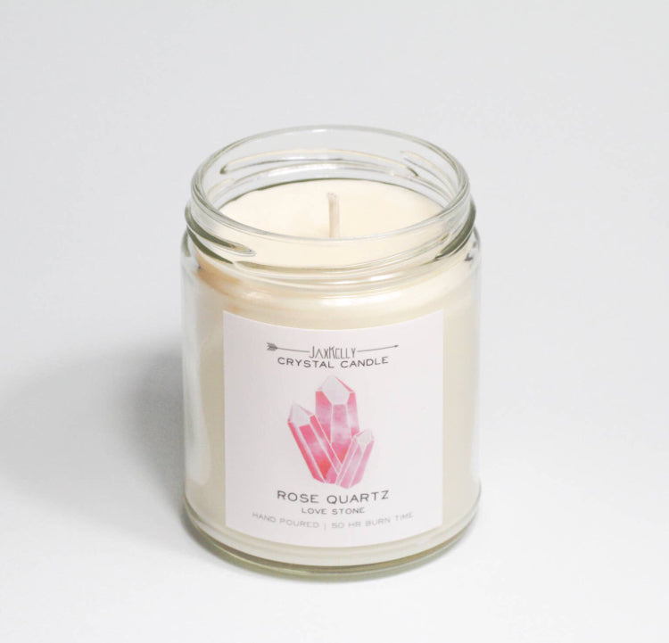 Rose Quartz Candle - Love Stone