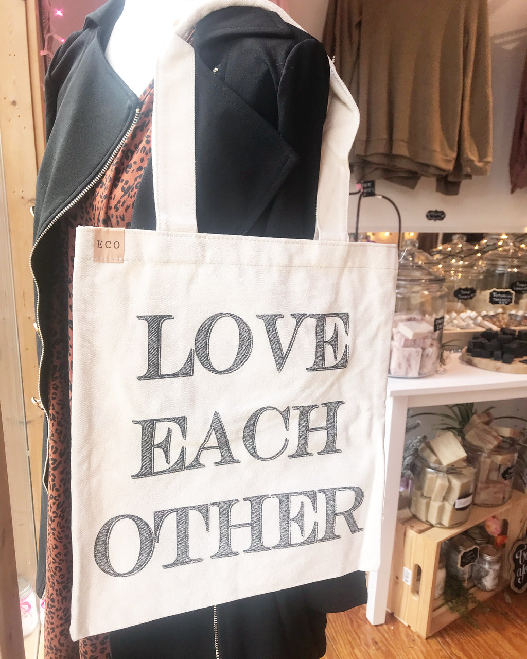 Love Each Other Canvas Tote