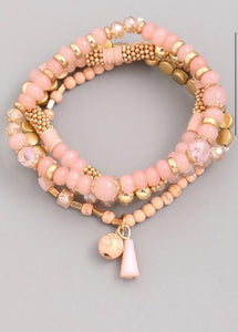 Peach Beaded Stack