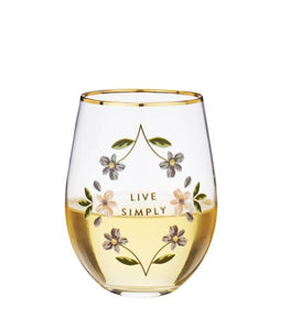 Live Simply Glass