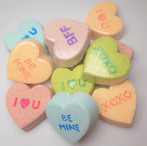 Conversation Hearts Bath Bombs