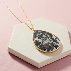 Black & White Marbled Necklace