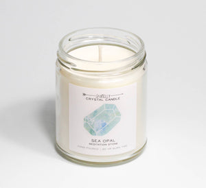 Sea Opal Candle - Meditation Stone