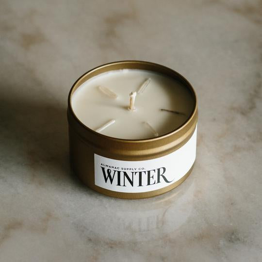 Winter Crystal Snowflake Candle