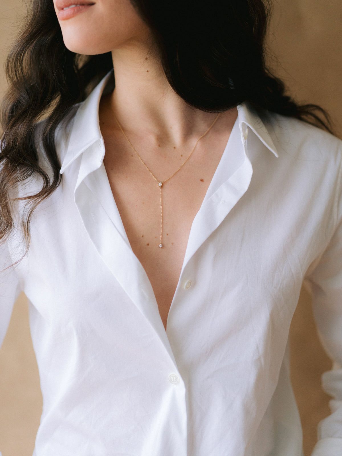 Isla Waterfall Necklace White