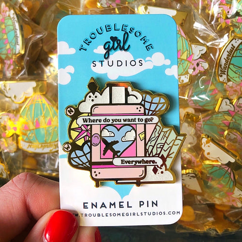 'Everywhere' Enamel Pin