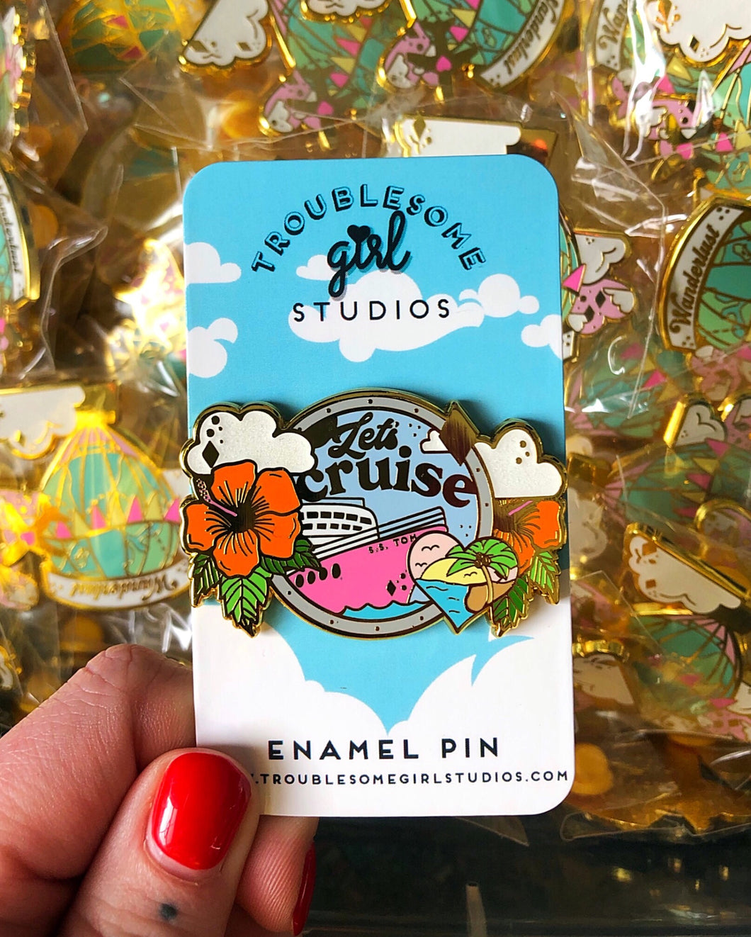 Let's Cruise Enamel Pin
