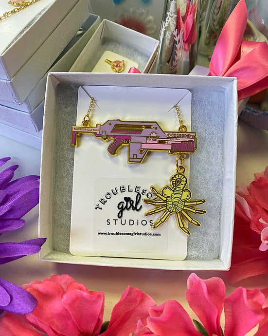 Adorable Alien Pulse Rifle Necklace
