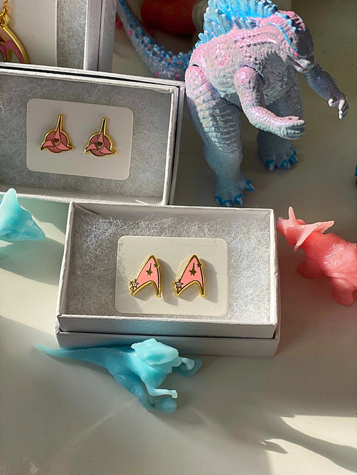 Trekkie Combadge Earrings