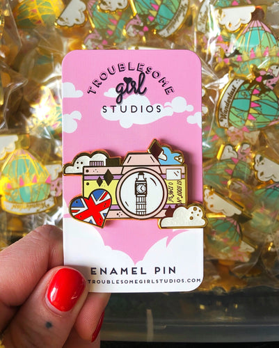 Destination London Enamel Pin