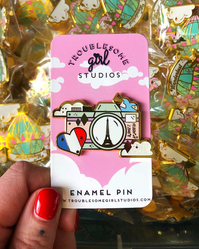 Destination Paris Enamel Pin