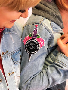Bad Ass Feminist Club Patch Collab
