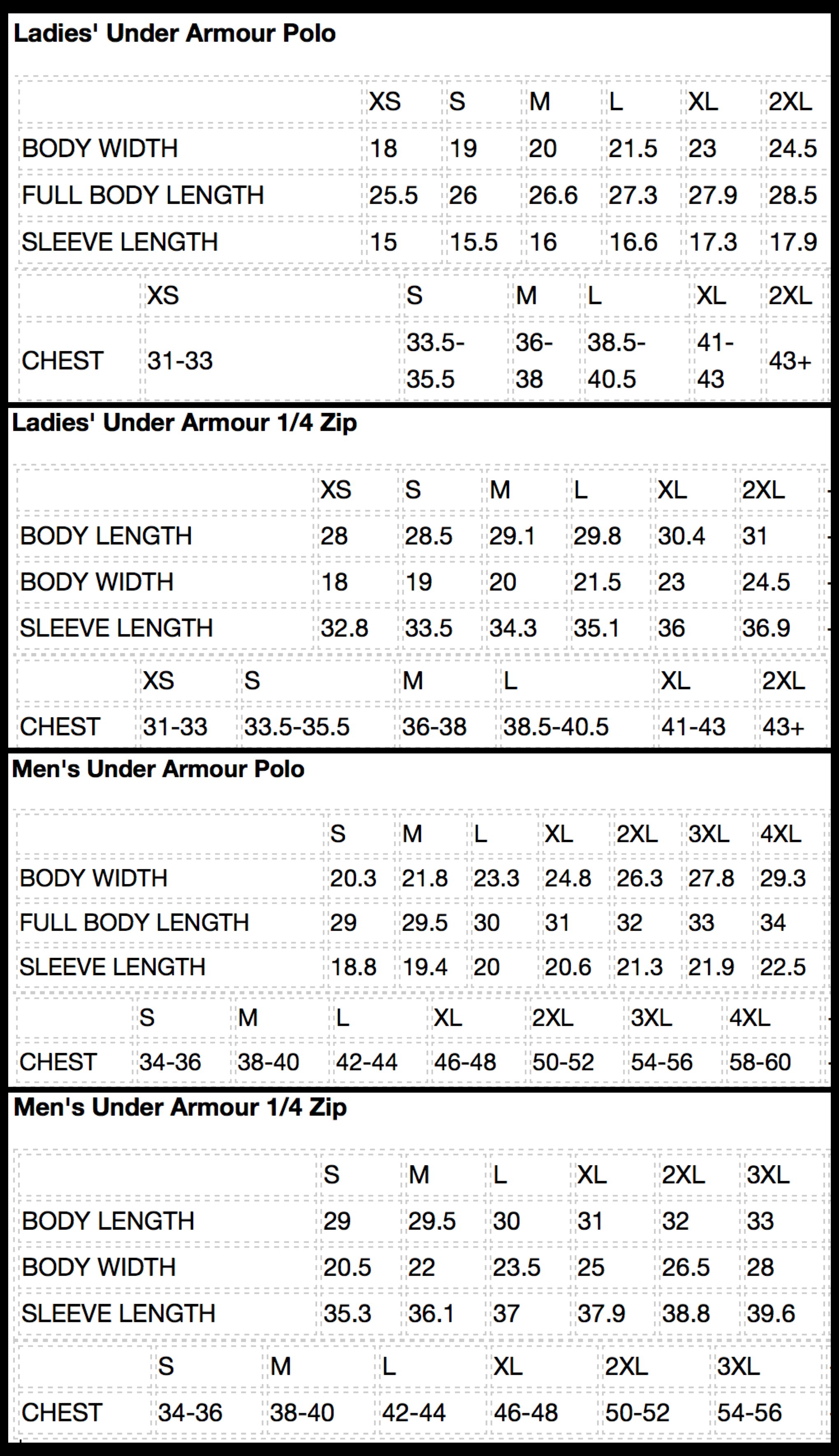 new product 7c172 a443e Under Armor Sizing Chart