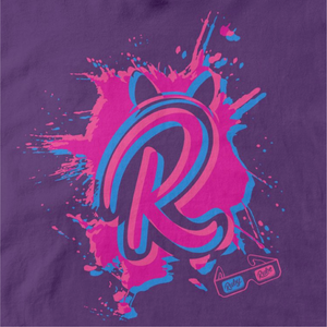 3D R Paint Splat T Shirt in Purple