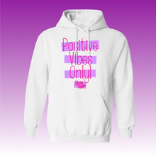 Load image into Gallery viewer, Positive Vibes Hoodie in White