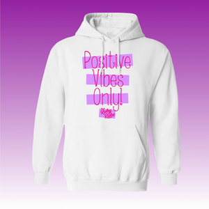 Positive Vibes Hoodie in White