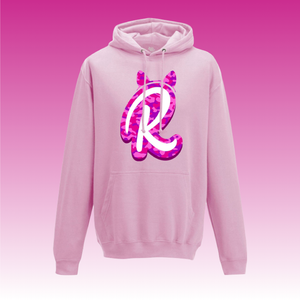 R Camo Logo Hoodie in Light Pink