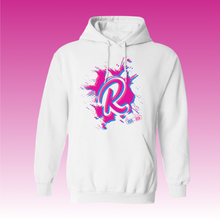 Load image into Gallery viewer, R Paint Splat Hoodie in White