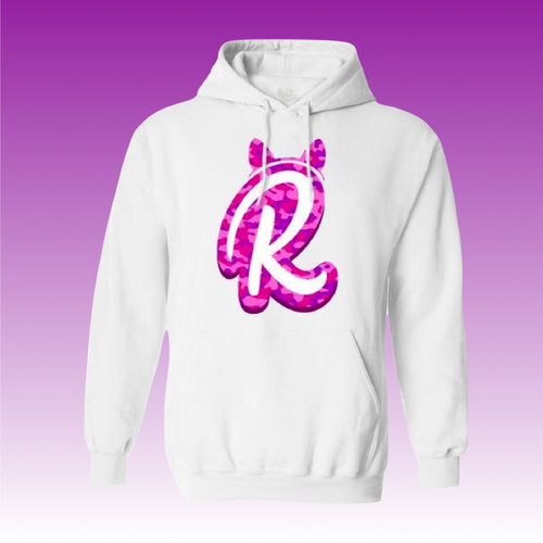 R Camo Logo Hoodie in White