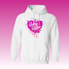 Heart Paint Splat Hoodie in White