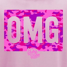 Load image into Gallery viewer, OMG Camo Box Hoodie in Light Pink