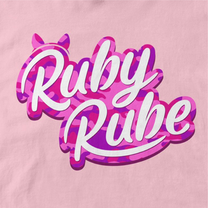 Ruby Rube Camo Logo T-shirt in Light Pink