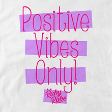 Load image into Gallery viewer, Positive Vibes T Shirt in White
