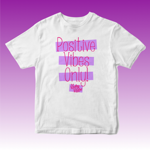 Positive Vibes T Shirt in White