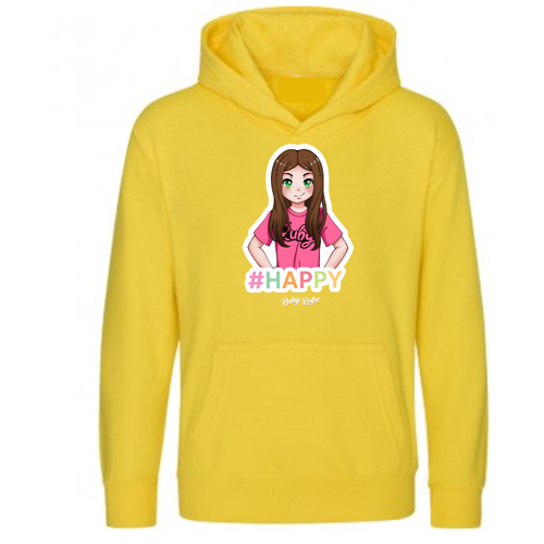 Ruby Rube - Happy Hoodie in Yellow