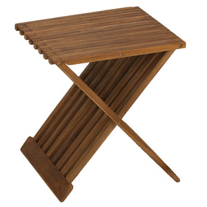 Bare Decor Rocco Folding Stool in Solid Teak Wood