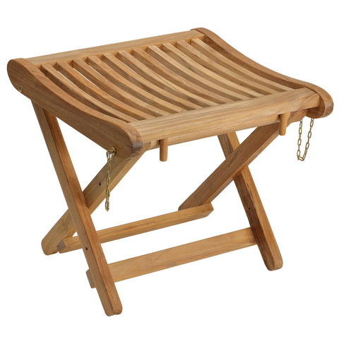 Bare Decor Valga Backless Folding Stool