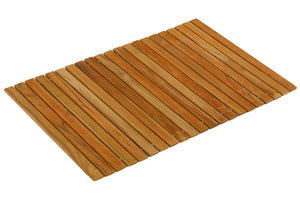 "Bare Decor Asi Genuine Teak Wood Flexible Table Top Placemat or Sofa Arm Tray, 1 Mat 19"" x 12"""